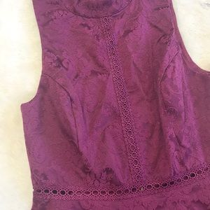 Xhilaration Dresses - NWT Tiered Target Dress Maroon with Detailing